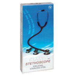 Edelstahl Doppelkopf-Stethoskop SET
