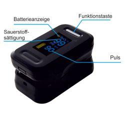 Finger-Pulsoximeter BlackMed - OLED