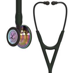 3M™ Littmann® Cardiology IV - High Polish Rainbow / Schwarzer Schlauch, Smoke Schlauchanschluss & Smoke Ohrbügel in Schwarz