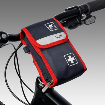 verbandtasche erste hilfe f r freizeit und sport velo fahrrad verbandtasche 61180. Black Bedroom Furniture Sets. Home Design Ideas
